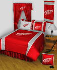 Detroit Red Wings Comforter Bedskirt Sham Pillowcase Twin Full Queen King Size