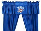 Oklahoma City Thunder Curtains & Valance Set with Tie Backs