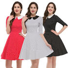 NEW Jive VINTAGE Style Rockabilly Swing 50s 60s Housewife Dots Party Prom Dress