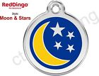 Red Dingo MOON & STARS Engraved Dog ID Pet Tag/Charm - Lifetime Guarantee
