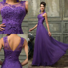 BEADED Long Party Bridesmaid Formal Wedding Evening Gowns PROM Dresses Plus Size