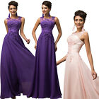 PLUS SIZE++ Long Lace Bridesmaid Wedding Evening Prom Gown Masquerade Dresses ❤