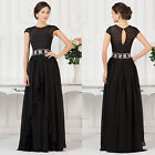 NEW WOMEN Long Chiffon Evening Party Ball Formal Gown Prom Bridesmaid MAXI Dress