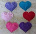 6 - Felt Die Cuts - Heart - 5 sizes available - Christmas -Applique/Cards/Crafts