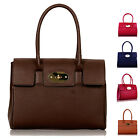 Womens Satchel Grab Handbag Ladies Faux Leather Bags Celebrity Style New Fashion