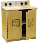 School Daycare Furniture Birch Wood Play Stove