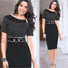 Women's Slim Fit Vintage STYLE BUSINESS Pencil FORMAL Evening PROM Work Dress