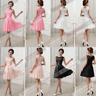 Women Lace Chiffon Dress Formal Cocktail Party Evening Prom Mini hot