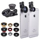 3 in1 Clip 0.4X Super Wide Angle+FishEye+Micro Camera Lens for iPhone Samsung