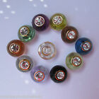 5 - Novelty Buttons - Round Buttons w/clear Gem - 12.5mm - Dress Making - Sewing
