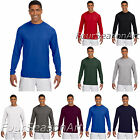 A4 Mens Long Sleeve Cooling Performance Crew Neck T Shirt S-3XL N3165