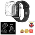 Thin Clear Transparent Soft Gel TPU Silicone Case Cover for Apple iWatch 38/42mm