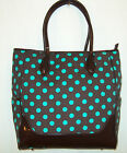 35 % OFF New Retro Chocolate Brown W/ Turquoise Polka Dot Purse Shoulder Bag nwt