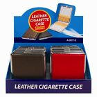 Metal Faux Leather Cigarette Case 4 Colors Perfect for a Gift ***LOWEST PRICE***
