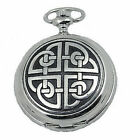 Square Celtic Knot Pocket Watch, Woodford,, Quality Mens Gift, Boxed New