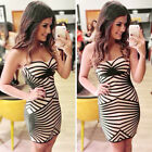 Sexy Women Summer Bandage Bodycon Casual Evening Party Cocktail Short Mini Dress