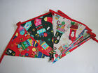 Hand Made 10ft /13 Flag Christmas Fabric Bunting Garland Christmas Stocking