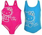 Hello Kitty 1 Piece Swimsuit Girls 4 Pink Blue Bathing Suit Studs Bow Cute