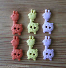 5 - Novelty Buttons - Tiny Giraffe - Baby/Kid's - Knitting/Sewing- Cardmaking