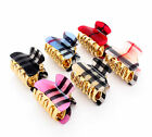 SMALL PRINTED CHECKED HAIR CLIP CLAW GRIP CLAW CLAMP BUTTERFLY TORT CLIP CLAMP
