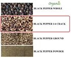 100%ORGANIC PREMIUM PEPPER PEPPERCORNS BLACK WHOLE/CRACK/POWDER INDIA 4 OZ -5 LB фото