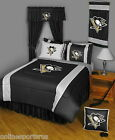 Pittsburgh Penguins Comforter Sham & Sheet Set Twin Full Queen King Size