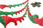 4x13Ft Hand Pleated Paper Party Christmas Ceiling Streamers Decorations R&G mix