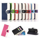 Protect Stand Flip Wallet Leather Back Case Cover Skins For Samsung Galaxy Phone