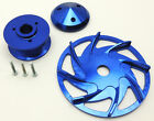 GM  FORD BILLET ALUMINUM ALTERNATOR PULLEY - ANODIZED BLUE FINISH # WPM-PC-7126E