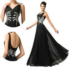 BEADED Chiffon Masquerade Gowns Evening Party Formal Bridesmaid Long Prom Dress