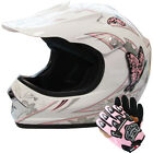 Leopard Child Kids Junior Motorbike Scooter Motocross MX Helmet Butterfly&Glove