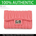 [OMNIA]Crystal Ladies Wallet Genuine Leather Trifold Purse ID Card Coins bag386M