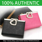 [OMNIA]Crystal Ladies Wallet Genuine Leather Trifold Purse ID Card CoinsBag381S