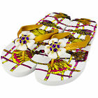 MISS TRISH LADIES DESIGNER FLIP FLOPS - GOLD/WHITE - ROSE UK SIZES 3 - 8 RRP £40