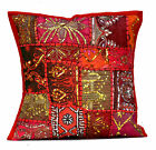 An Ethnic Embroidery Sequin Patchwork USA Throw Pillow Cushion Cover
