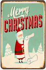 Merry Christmas Metal Holiday Retro Sign