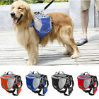 Pet Pack Dog Saddle Bag Carrier Backpack for Travel Hiking Camping Harness S/M/L