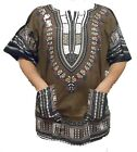 African Dashiki Vintage Hippie Men Shirt Women's Beach Wear Tribal Rasta Blouse