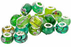 5 - 100pcs GREEN WHOLESALE CHARM SILVER 925 BEADS BRACELET Murano Lampwork Glass