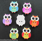 Novelty Wooden Buttons - Owl #7 - 24.5mm - Sewing/Crafts/Cardmaking