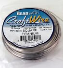 SQUARE Craft Wire BeadSmith Soft Tempered 18 gauge