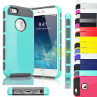 Hybrid Rugged Rubber Shockproof Protective Hard Case Cover For iPhone 5 5S 5G