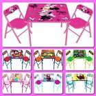 Toddler Desk Table Chairs Set Kids Furniture Activity Foldable Children Study