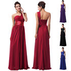 RED One Shoulder Sexy Women Long Bridesmaid Evening Cocktail Party Gowns Dresses