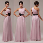 1 SHOULDER Wedding Long Bridesmaid Evening Prom Party Cocktail Ball Gown Dresses