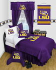 LSU Louisiana Tigers Bed in a Bag & Valance Twin Full Queen Size