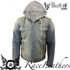 BULL-IT ROADSTER LIGHT BLUE REINFORCED ARMOURED COVEC MOTORCYCLE JACKET