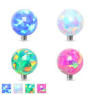 1 Pc 316L Surgical Steel 3mm & 4mm Natural Fire Opal Ball Dermal Anchor 4 Colors
