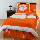 Clemson Tigers Comforter and Sham Set Twin Full Queen King Size Reversible CC