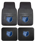 Memphis Grizzlies Car Mats 4 Pc Front & Rear Heavy Duty Vinyl